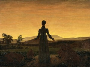 caspar-david-friedrich-a-woman-at-sunset-or-sunrise
