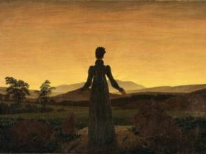 caspar-david-friedrich-a-woman-at-sunset-or-sunrise