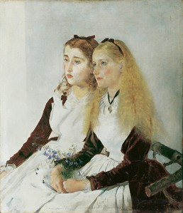 Anton Romako (1832 - 1889), The Artist's Nieces, Elisabeth and Maja, 1873