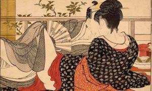 Kitagawa Utamaro, Lovers in the upstairs room of a teahouse, c. 1788