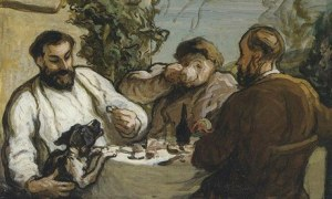 Lunch in the Country (c. 1868) by Honore Daumier, part of the Visions of Paris exhibition