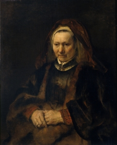 Rembrandt-van-Rijn-Portrait-of-an-Elderly-Lady