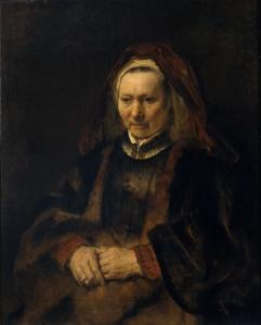 Rembrandt-van-Rijn-Portrait-of-an-Elderly-Lady