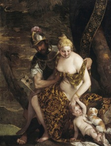 Paolo Veronese Title Mars, Venus and Cupid Date 1580