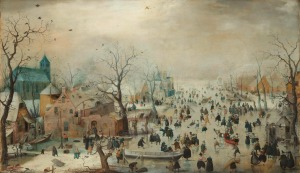Avercamp - Winter landscape with skaters