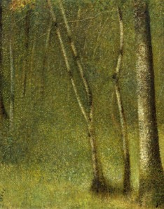 Seurat-The Forest at Pontaubert-1881