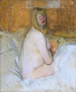 Nude 1941 by Victor Pasmore 1908-1998