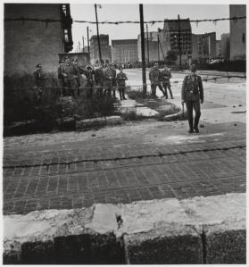 East German Guard, Berlin Wall 1961 by Don McCullin born 1935