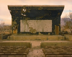 Simon Norfolk - bullet scarred cinema at the palace of culture in the Karte CHar district
