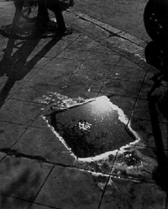 shikanosuke-yagaki-puddle-on-pavement 1930
