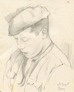 branson - Portrait at prison camp palencia Aug 1938