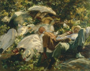 Group with Parasols c.1904-5