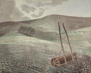 Eric Ravilious - Downs In Winter (1934)