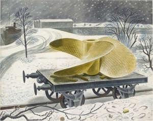 eric-ravilious-ships-screw-on-a-railway-truck-1940