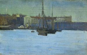 Dieppe Harbour c.1885