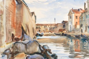 Giudecca, 1913, wc over graphite Sargent