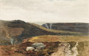 Yorkshire-fells, c.1812, wc with gum arabic, Peter de Wint