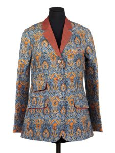 IS.27-2012 Jacket Women's 'Ajrak' Jacket, digitally printed linen, designed by Rajesh Pratap Singh, Delhi, 2010 Rajesh Pratap Singh Delhi 2010 Digitally printed linen