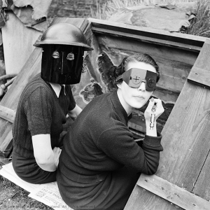 web Fire Masks, London, England 1941 by Lee Miller (3840-9)