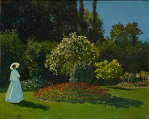 Claude Monet, Lady in the Garden, 1867 Oil on canvas, 80 x 99 cm The State Hermitage Museum, St. Petersburg Photo (c) The State Hermitage Museum. Photography: Vladimir Terebenin